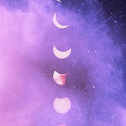 freetoedit wallpaper stars star moon night galaxy clouds relax soft pink purple sky pretty aesthetic aestheticedit aesthetics dream dreamer picoftheday madewithpicsart heypicsart art moonphases summer