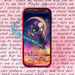 freetoedit dream love stars animegirl moon phone irconmyphonescreen onmyphonescreen