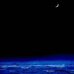 moon moonlight beach water ocean freetoedit