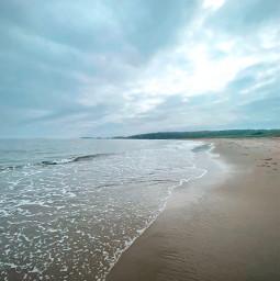 freetoedit ocean beach summer cloudyday sky landscape nature
