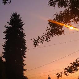sky trees moon silhouette lookup summer oregon colorful freetoedit