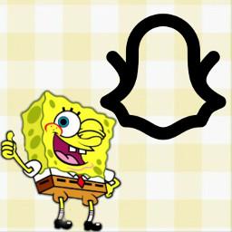 freetoedit spongebobsquarepants spongebob snapchat appcover