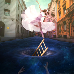 surreal fantasy myimagination dancer water freetoedit local picsart
