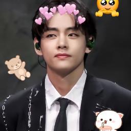 freetoedit taehyung cute adorable
