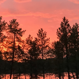 freetoedit sunrise sunset black pink orange lake hills trees pcthebestphotograph thebestphotograph