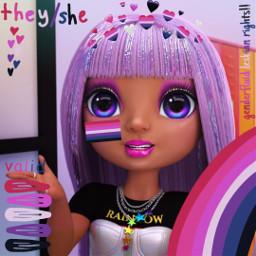 averystyles rainbowhigh theyshe lesbian genderfluid genderfluidlesbian theyshelesbian freetoedit