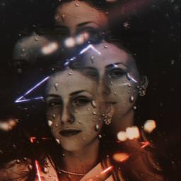 freetoedit remixit girl woman neon picsartbrasil picsart reflexo vidro cores