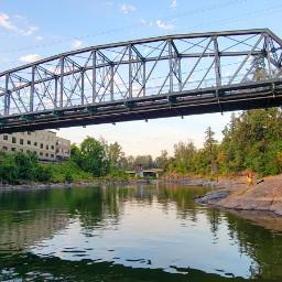 bridge clackamas river water oregon freetoedit