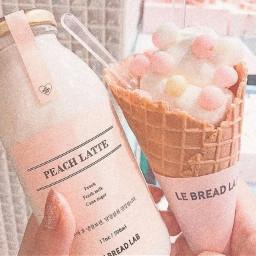 beach lattee icecream