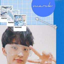 nctmark marklee nct blueaesthetic blue kpop bluesky skyblue darkblue lightblue nct_mark mark minhyung boygroup smentertainment freetoedit