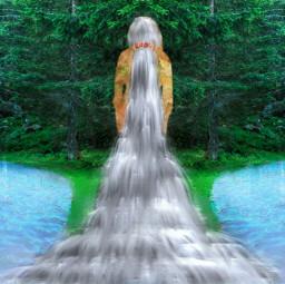 waterfall hairdo woodelf freetoedit colorpaint