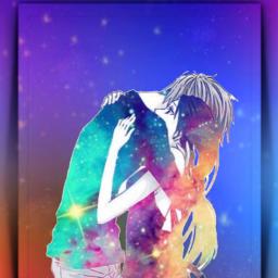 galaxy universe stars starlight couple love anime framed 3deffect aesthetic colorful picsarteffects picsartstickers brushtool starbrush heypicsart picsartmaster masteredit myedit madewithpicsart freetoedit