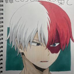 shototodoroki shoto shotoart shotodrawing art drawing anime mha mhaart mhadrawing todoroki todorokiart todorokidrawing