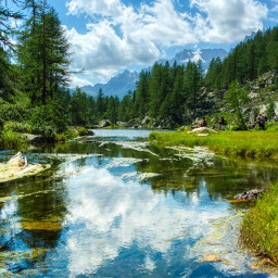 freetoedit photography landscape worldphotography nature naturephotography clouds sky reflection river mountain local