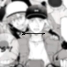 freetoedit renga rekixlanga langaxreki reki rekikyan langahasegawa langa manga spacer blur blurred arrow black white anime edit sk8 sk8theinfinity left