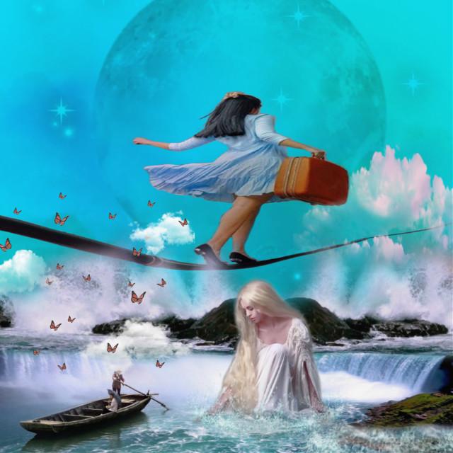 #freetoedit #sarahsalsas #aqua #girl #waterworld #moonlover #fantasy #magical #bluesky #blueaesthetic #wallpaper #tightrope #balance #waterwoman #boat #nature #butterflies #scenic #aesthetic #wallpaper #background #art #pretty #ifollowback #interesting