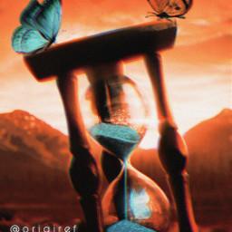 freetoedit borboletas fantasy ampulheta picsart picsartbrasil remix