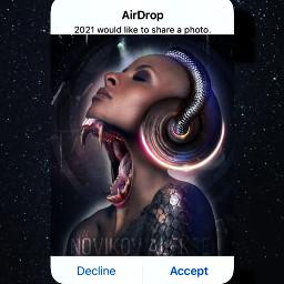 heypicsart art spaceart space girlart girl horror soul halm stars snake call calling drop freetoedit local srcairdropmessage airdropmessage