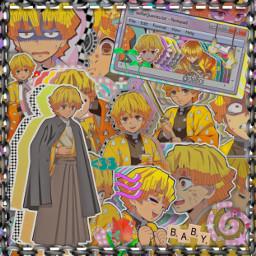 freetoedit zenitsu demonslayer kimetsunoyaiba anime