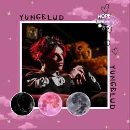 yungblud moon pink godsavemebutdontdrownmeout freetoedit