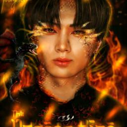 jay enhypen kpop dark fire dragon fantasy local