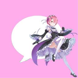 freetoedit pinkicon icon animeicon iconanime app animeapp appanime pinkapp ram rezero