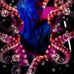 tablet tentacles freetoedit octopus beauty stylus mask masterstoryteller parietalimagination unsplash picsart