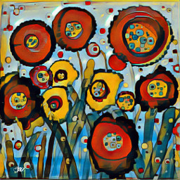 byjaz alcoholink flowers abstract