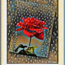 desginbyjaz doodles rain rose frog freetoedit
