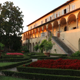 freetoedit ancientarchitecture medievalarchitecture chartehouse sunset light garden italiangarden travel tuscany italy myphotography