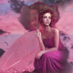 freetoedit rain lluvia madewithpicsart pink rosa