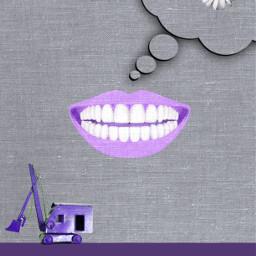 freetoedit smile daisy tractor purple
