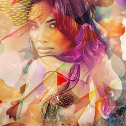 women doubleexposure remixit vectordrawing artistic freetoedit local