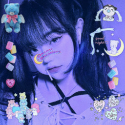 freetoedit replay cute kawaii webcore cyber web navy blue y2k alt indie yumekawaii dream dreamy sanrio littletwinstars carebears baby babycore angelic toys sleep agere purple