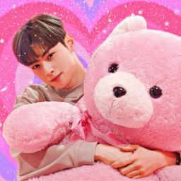 chaeunwoo astro chaeunwoo_astro leedongmin astroedit chaeunwooedit cute pink pastel freetoedit local