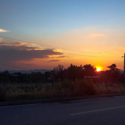 myphoto byme photography phonephotography sun sky skyred sunset nofilters landscape freetoedit