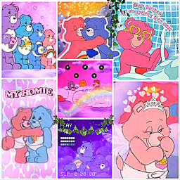 freetoedit carebears aesthetic indie carebearsindie carebearsaesthetic vibrant cute cool wow amazing chickenxmcnugget colourful proud saturation saturationisbae life art interesting collage baddie fairy core kidcore nice