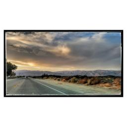 desert socal ontheroad deserthotsprings sunset clouds emptyroad local