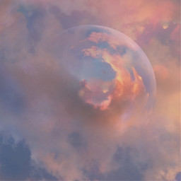 sky planet world clouds pastel background emotions madewithpicsart multipleeffects tools overlay tinyplaneteffect freetoedit local