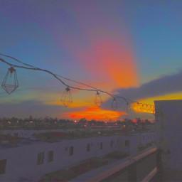 rainbow sunset lights sun soft effect edit freetoedit