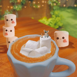 coffe cozzy autumn orange marshmello chocolate latte green table wood letters cute freetoedit