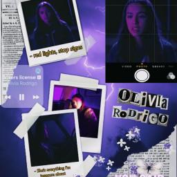 oliviarodrigo olivia rodrigo hsmtmts good4u driverslicense sour brutal alliwant holographic purpleaesthetic freetoedit