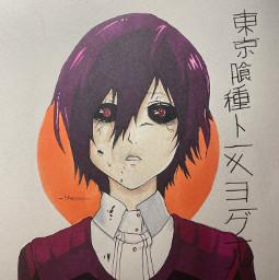 tokyoghoul anime art drawing sketch touka