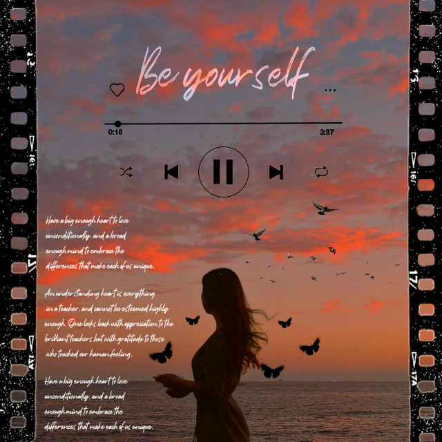 ♡     BE YOURSELF  ♡ 🔀    ⏮    ⏸    ⏭    🔁  EDIT :@my_lost_atlantis #music #musicislife #album #albumcover  #albumart #trending #sea #albumcoverart #song #picsart #effect #edit #collage #love #madewithpicsart #picsartreplay #replay #aesthetic #portrait #sunset #girl #sparkle #vintage #kurdistan #photoedit @pa