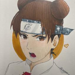tenten naruto anime art drawing