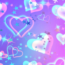 freetoedit glitter sparkle galaxy sky stars hearts love pattern glitch pastel colorful cute kawaii purple neon aesthetic overlay background wallpaper