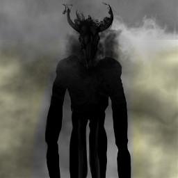 freetoedit demon creepy horror smoke demonic