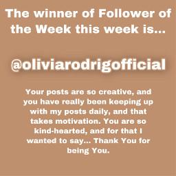 followeroftheweek followeroftheweekwinner winner
