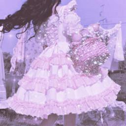 cute kawaii sweet girly laces pink purple glitter shine soft pastel pale japan uwu angelic princess angelcore fairy dreamy dream lolita dress cottagecore aesthetic freetoedit
