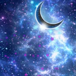 background sky stars moon moonlight crescentmoon aesthetic stickerart keepitsimple heypicsart picsartmaster masteredit myedit madewithpicsart freetoedit default